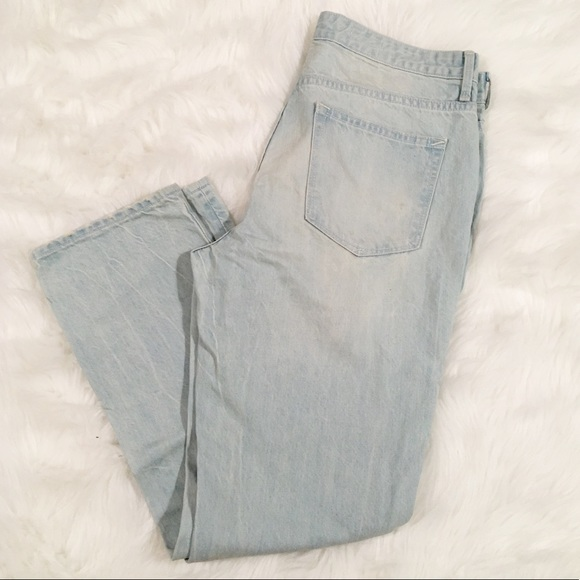 GAP Denim - Gap light wash distressed straight jeans 29